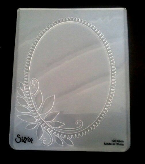 Sizzix Large 4.5x5.75in Embossing Folder OVAL FRAME ELEGANT WREATH fit Cuttlebug