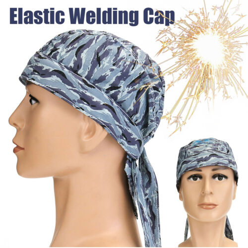 Welding Welder Protective Hat Cap Scarf Welders Flame Retardant Helmet Grey