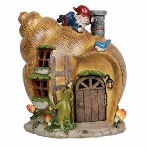 ABZ Brand Snail Shell Gnome House Garden Statue Friendly