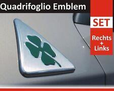 2pcs Alfa Romeo 90mm Dreieck Emblem Kleeblatt Quadrifoglio Verde LINKS+RECHTS