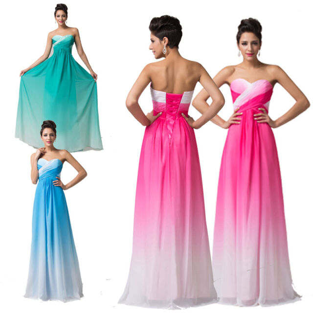 Long Prom Dress Homecoming Gown Bridal Bridesmaid Evening Dresses Formal PLUS~16