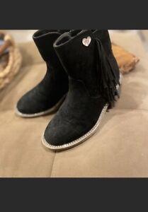 stuart weitzman -Kids Black boots -Size