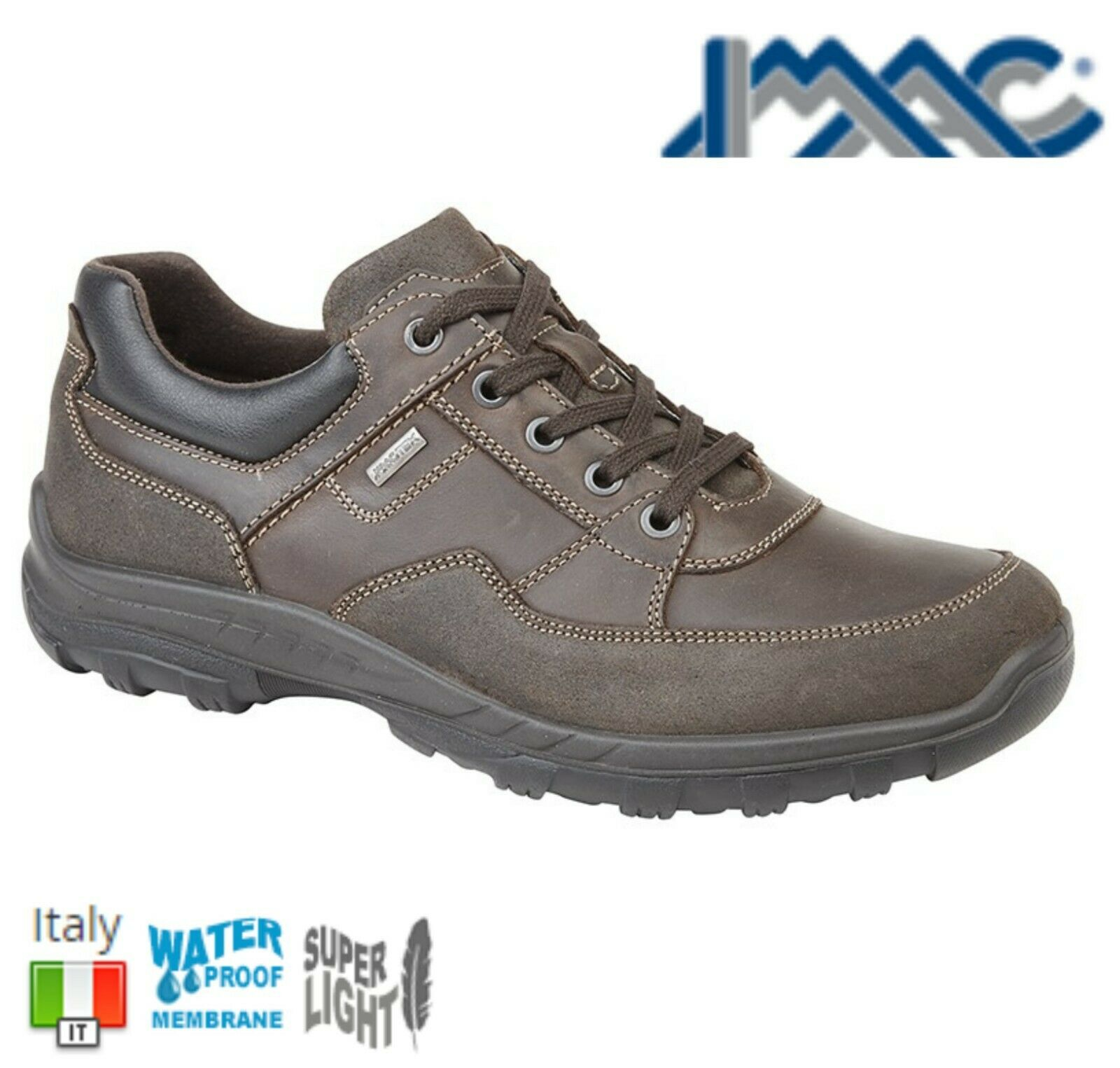 IMAC Mens Waterproof Brown Leather Walking Leisure shoes -  Size 6 7 8 9 10 11 12  customers first