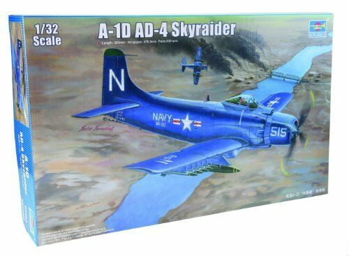 Douglas A-1D AD-4 Skyraider Plastic Kit 1 32 Model 2252 TRUMPETER