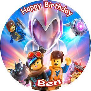 Phenomenal Lego Movie 2 8 Birthday Icing Cake Topper Ebay Birthday Cards Printable Trancafe Filternl