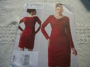 cca7c1edac4ae Vogue 1328 Kay Unger Misses' roused dress Sewing Pattern size 18-20 ...