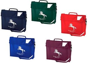 Image Is Loading Personalised Unicorn Bookbag With Strap School Music Book