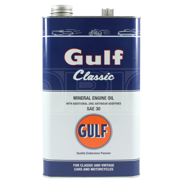 Gulf Classic SAE 30 Engine Oil for Classic Cars - 5 Litres 5L
