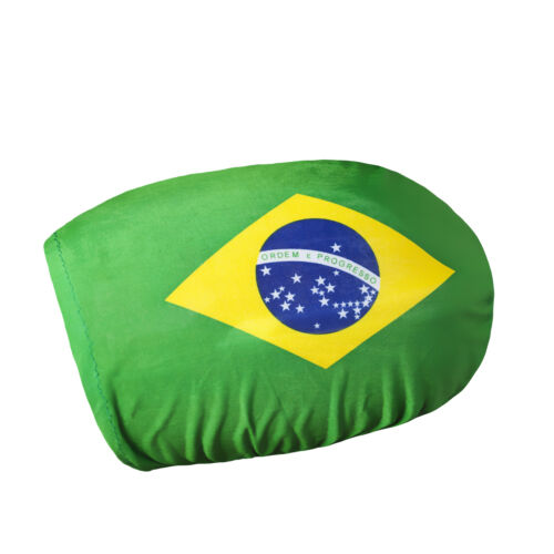 2er Set Spiegelflagge Brasilien Fahne für Außenspiegel PKW Car Bikini EM WM