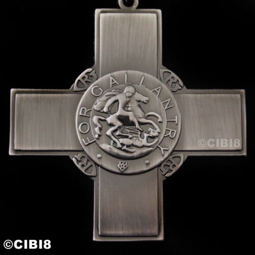 GEORGE CROSS MEDAL HIGHEST GALLANTRY AWARD CIVILIANS /& MILITARY WW2 REPRO ARMY