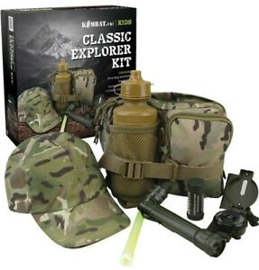 KIDS ARMY GIFT BOXED PLAY SET BOYS GIRLS OUTDOOR EXPLORER DPM BTP CAMOUFLAGE