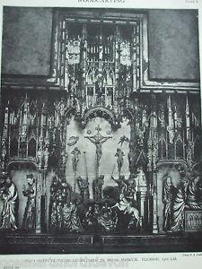 ANTIQUE-PRINT-1926-WOODCARVING-RETABLE-IN-DIJON-MUSEUM-RELIGIOUS-RELIGION-WOOD