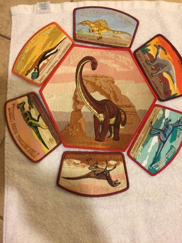 Mint 2017 National Jamboree 7 Piece JSP Set Utah National Parks Dinosaur Red