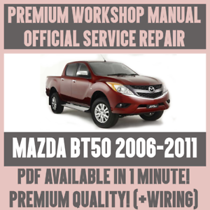 details about >workshop manual service & repair guide for mazda bt50  2006-2011 +wiring  >