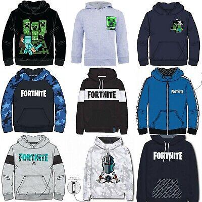 Boys Girls Kids Gamer Minecraft Fortnite Jumper Hoodie Hoody Sweatshirt 6-16 Yrs