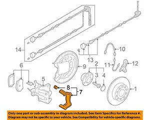 s l300 vw volkswagen oem 06 10 jetta brake rear caliper mount 1k0615425s ebay