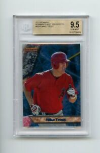 G00010-MIKE-TROUT-Angels-2011-Bowman-039-s-Best-Prospects-BBP9-Rookie-Card-BGS-9-5