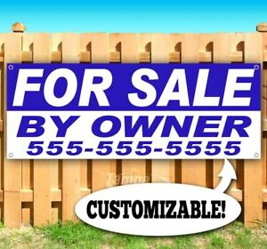 FOR SALE BY OWNER PERSONALIZE Advertising Vinyl Banner Flag