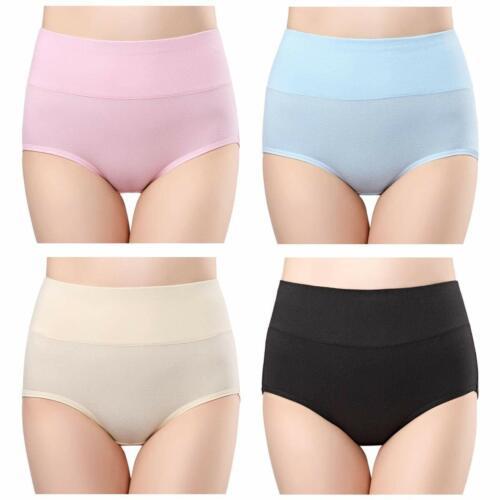 Molasus Women Cotton High Waist Underwear Post Partum Briefs Breathable Panties