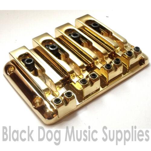 Quality 4 string Bass guitar bridge BB204 Black or Chrome by Sung IL four Gold