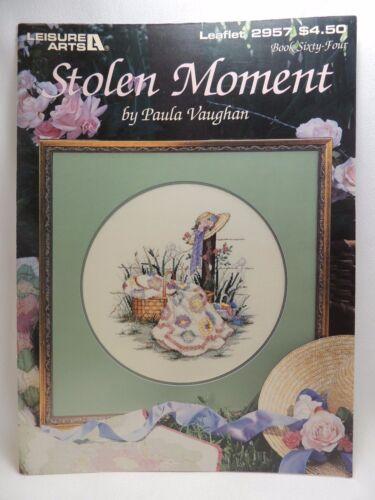 Paula Vaughan Stolen Moment Cross Stitch Pattern Leaflet 2957 Book 64