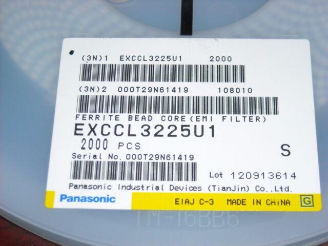 Qty 50 Panasonic Exc-cl3225u1 Ferrite Beads 45 Ohm Bead Core 50 Pcs RoHS for sale online