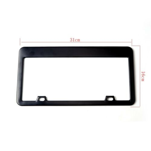 2 pcs Stainless Steel License Plate Frame Black fit for BUICK Car-Truck-SUV