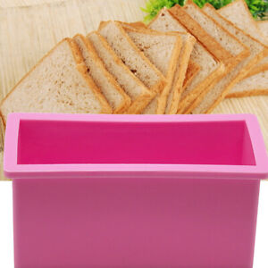 1-2L-Food-Grade-Silicone-Loaf-Toast-Cake-Bread-Moulds-Trays-Rectangle-Mold-Pan