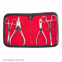 Dermal Anchor Tools Kit 2 Dermal Forceps 2 Ring Pliers With Case