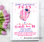 Hot Air Balloon Time Capsule 1st Birthday Pink Confetti Print Invite Party