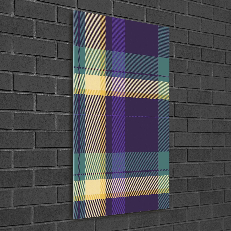Wandbild Druck auf Plexiglas® Acryl Hochformat 50x100 Karierte Textur