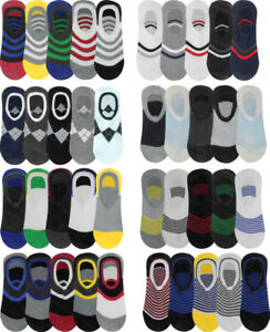 Invisible Trainer Socks 4 Pairs Mens No