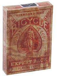 New DISTRESSED Expert Back Bicycle deck of Playing Cards vintage historic 1895