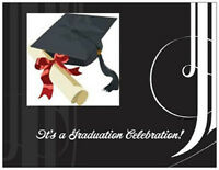 Black & White Graduation Party Invitations Cards Post Cards