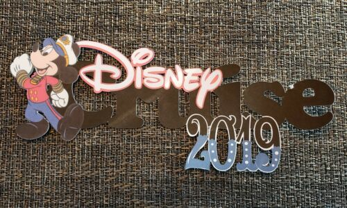 choose your year Disneys inspired Cruise page title printed die cut