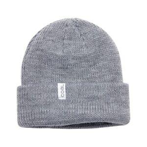Coal-The-Frena-Thick-Acrylic-Rib-Knit-Cuffed-Slouch-Beanie-Heather-Grey-Gray-New