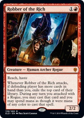 English Throne of Eldraine MTG Magic 1x Robber of the Rich NM-Mint