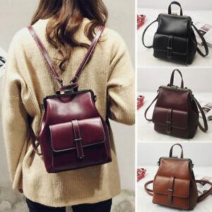 Convertible-Faux-Leather-Small-Mini-Frame-Backpack-Clutch-Shoulder-bag-Purse
