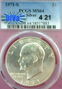 "1971-S POST-CLASH ""4/21"" DDO/DDR DIVA 1SB-301.2 PCGS MS64 DIVA ~RARE!~NICE!"