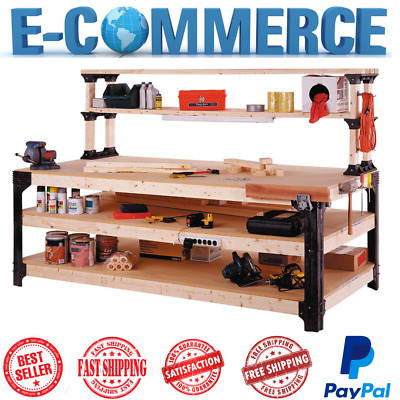 Awesome New 2X4 Basics Workbench Kit Garage Storage Table Tools Shelf Diy Workshop Bench 691161014809 Ebay Creativecarmelina Interior Chair Design Creativecarmelinacom