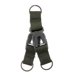 Tactical Army refluant Sangle Buckle Mousqueton clip ceinture Crochet Key