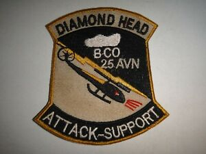US-B-Company-25th-Aviation-DIAMONDHEAD-ATTACK-SUPPORT-Vietnam-War-Patch