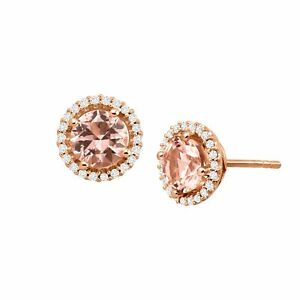 2-5-8-ct-Simulated-Morganite-Stud-Earrings-with-CZ-in-14K-Rose-Gold-Over-Silver