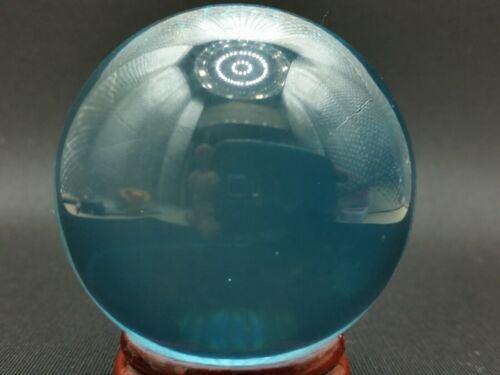 LEKLAI KAEW NAGA EYE GEM BLUE SPHERE BALL POWER WEALTH LUCKY THAI AMULET SOMPORN