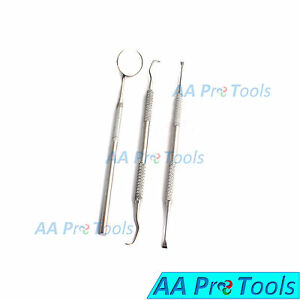 AA Pro: Tooth Dental Scraper Mirror Scaler Set Tartar Calculus Plaque Remover  696231606410