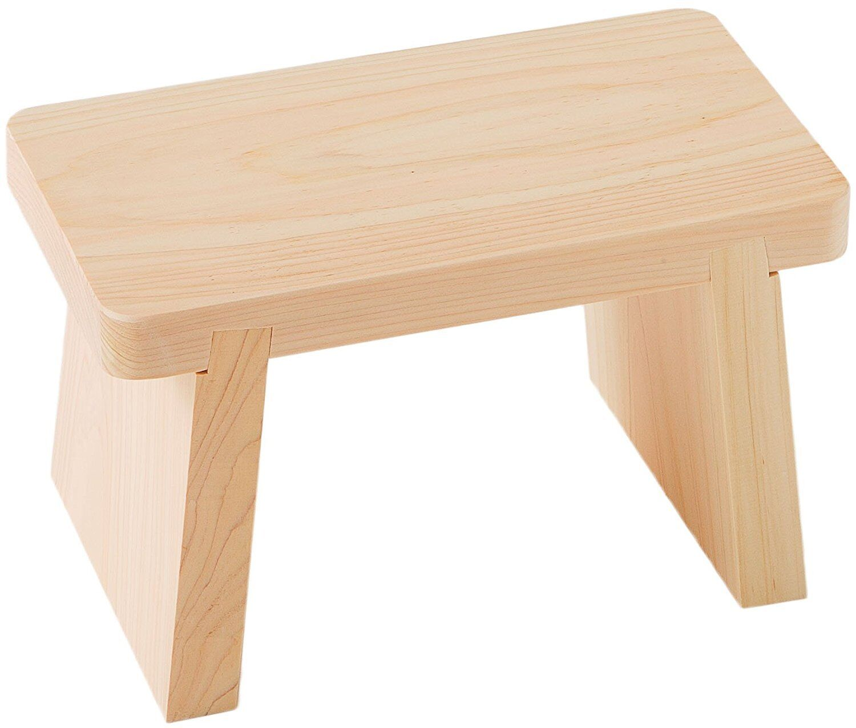 Japanese Oke wood Bath Chair Onsen Tools Hinoki Size S Made in JAPAN