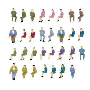 50pcs-Painted-Model-Train-Seated-People-Passengers-Seated-Figures-O-Scale-1-50