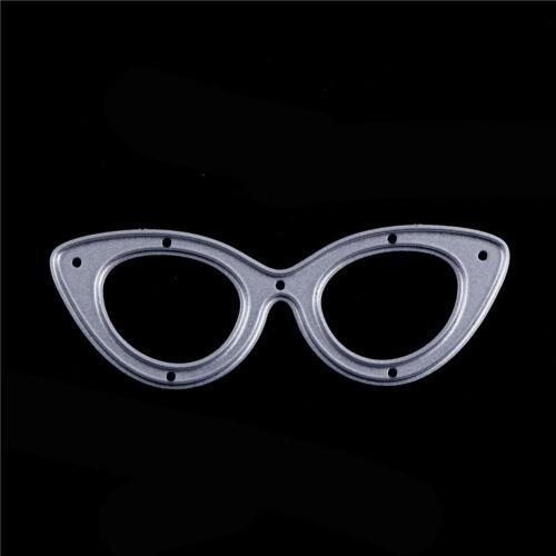 2x Glasses Metal Cut Dies Stencil For Scrapbooking DIY Craft Album Cards BSCA
