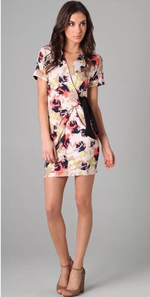 Diane Von Furstenberg DVF Arely Bis Silk Jersey Dress 8