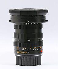 Leica Tri-Elmar-M 28-35-50mm f/4 Aspherical MF Lens with hood Excellent Plus